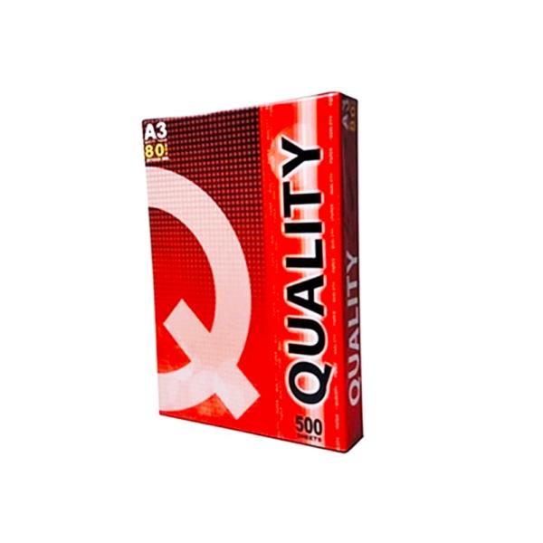 กระดาษ80gA3Qแดง500p