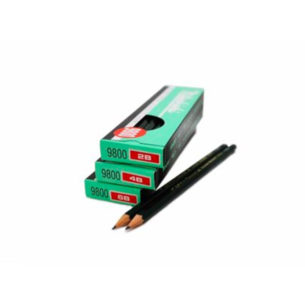 ดินสอดำแลเงาMitsubishi 6B