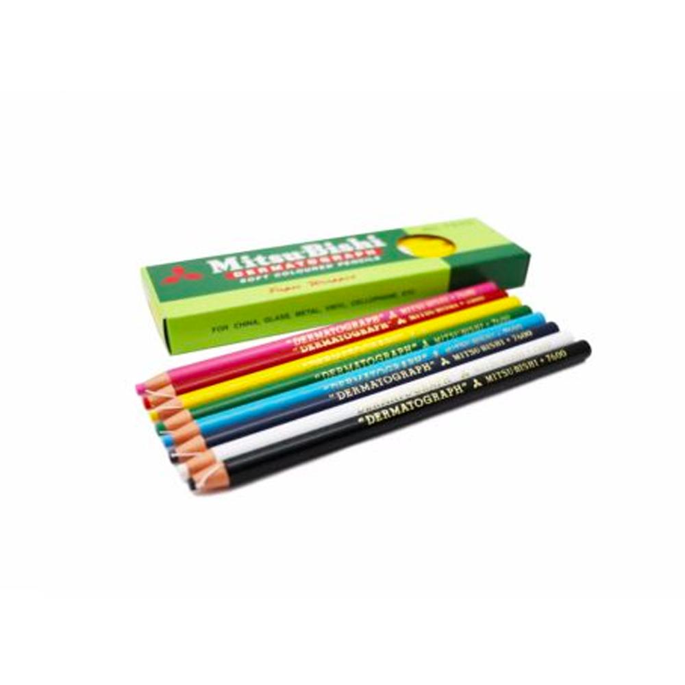 ดินสอเขียนกระจกมิตซูบิชิ7600ฟ้า