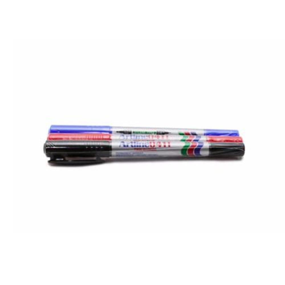 ปากกาเคมี2หัวEK-041T/สีเขียว