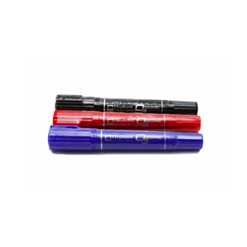 ปากกาเคมี2หัวช้างแดง