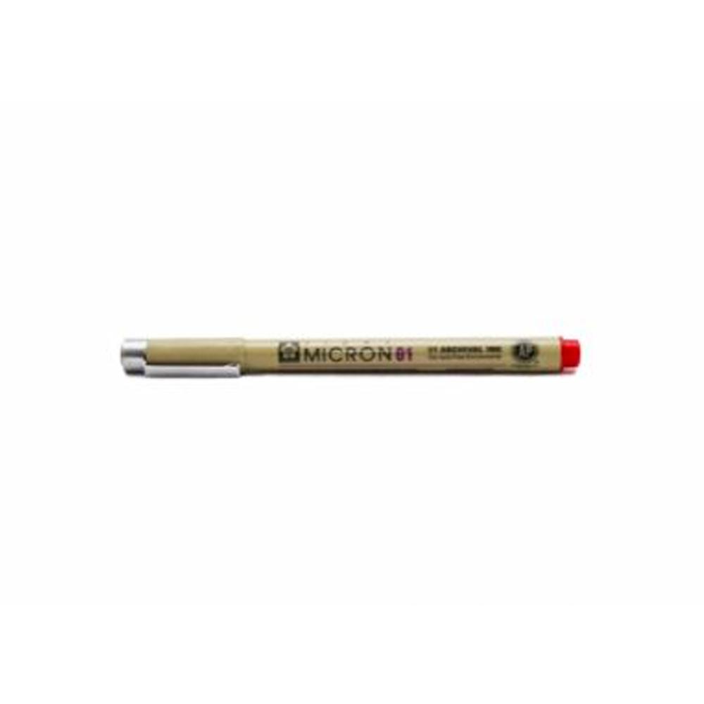 ปากกาหัวเข็มปิกม่า0.1mmแดง
