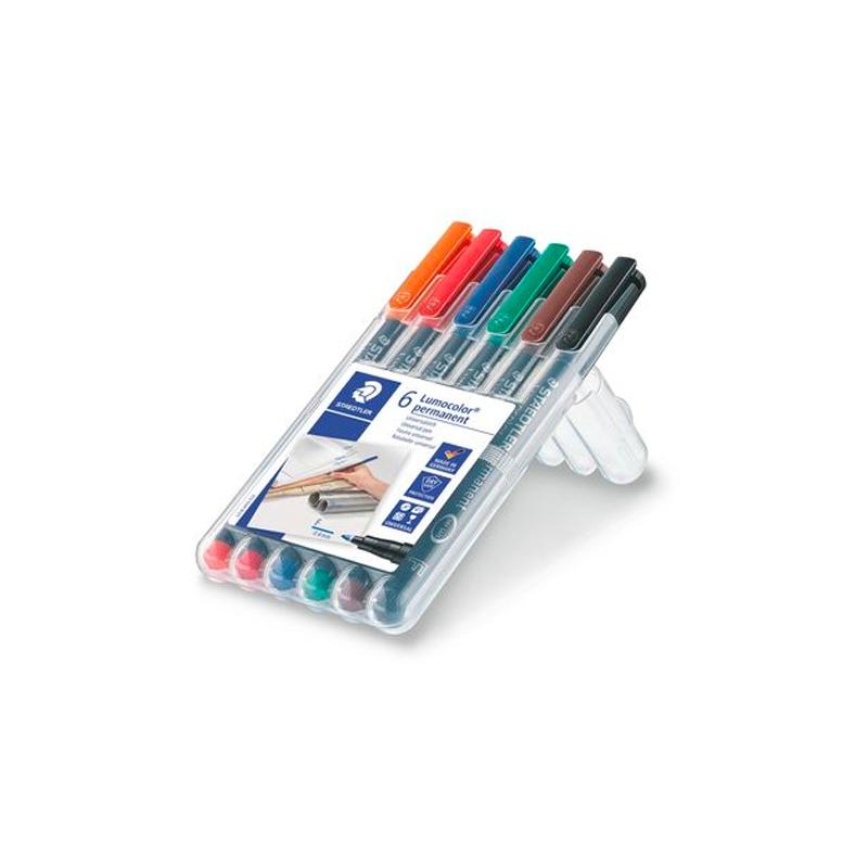 ปากกาสเต็ดเลอร์ลบไม่ได้F6สี
