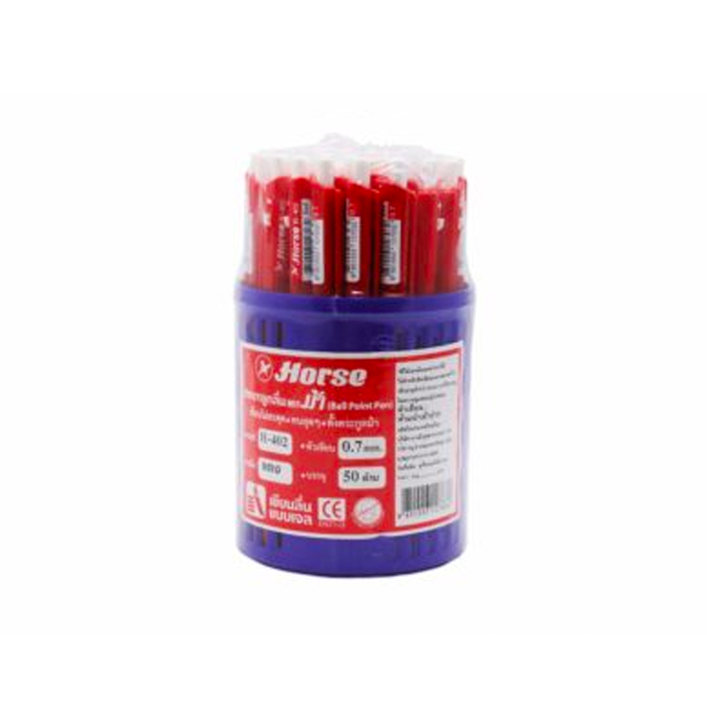 ปากกาตราม้า0.7mH-402*แดง