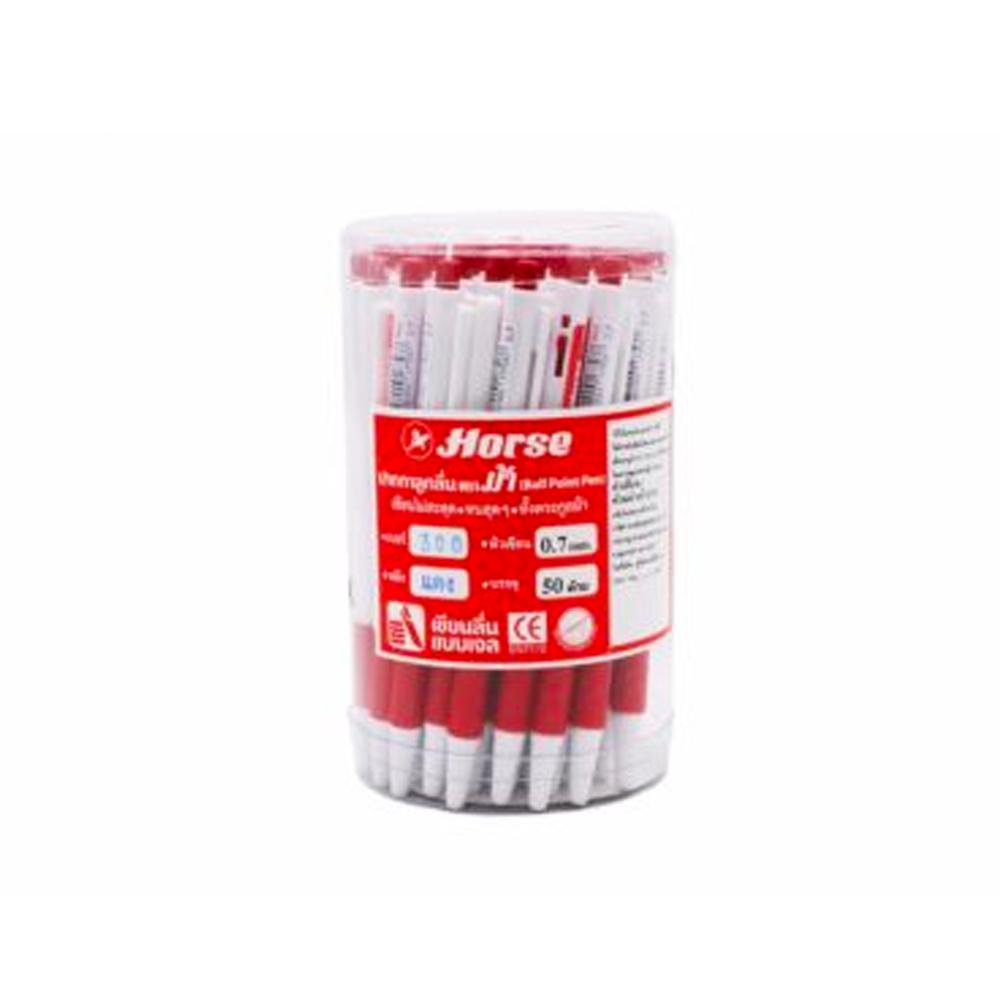 ปากกาตราม้า0.7mH-300แดง