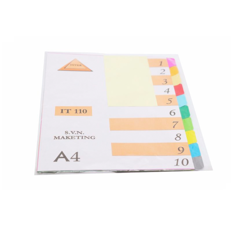 อินเด็กซ์กระดาษบางIT-11010หยักสี